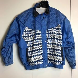 Vintage Pro Spirit Aztec Print Windbreaker Jacket